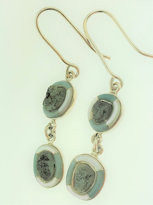 Beryl and Mother of Pearl Earrings