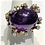 Thumbnail: Amethyst with Diamonds in Gold Ring