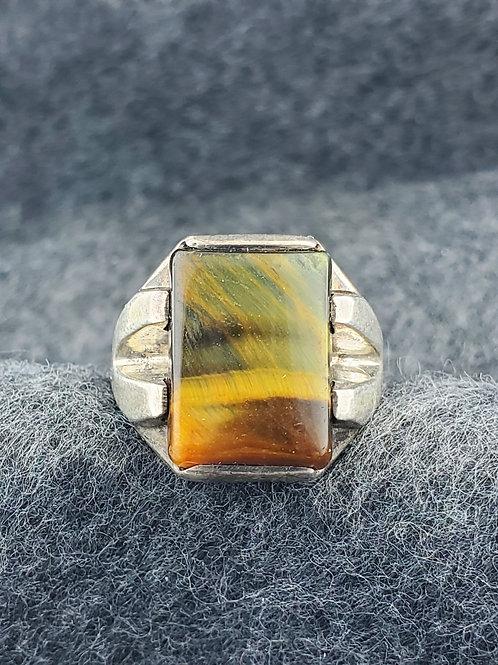 Tiger Eye Sterling Silver Ring