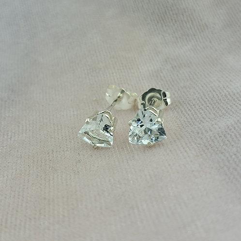 Aquamarine Trillion Cut Earrings