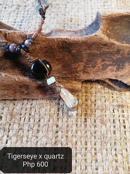 Tigerseye x quartz (Necklace)