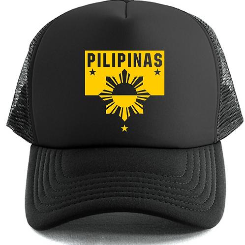Pilipinas Trucker Cap (Black & Yellow)