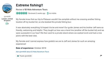 el nido fishing activities
