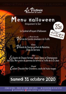 Menu Halloween 31 10 2020