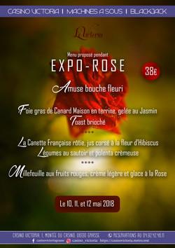Menu EXPOROSE 2018