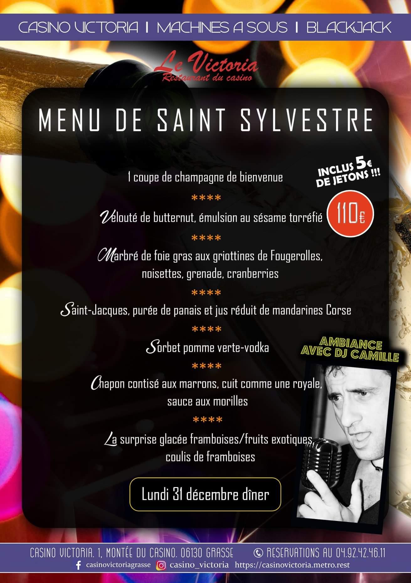 Menu de la St Sylvestre