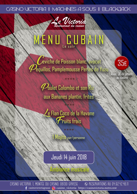 Menu Cubain 14 juin 2018
