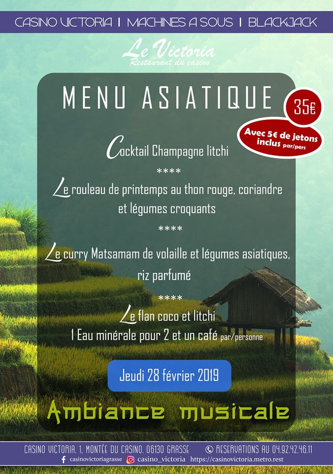 Menu asiatique