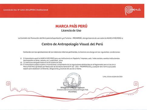 "CAVP Renews its ""Marca Perú"" License"
