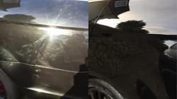 Avant / Après polissage véhicule noir