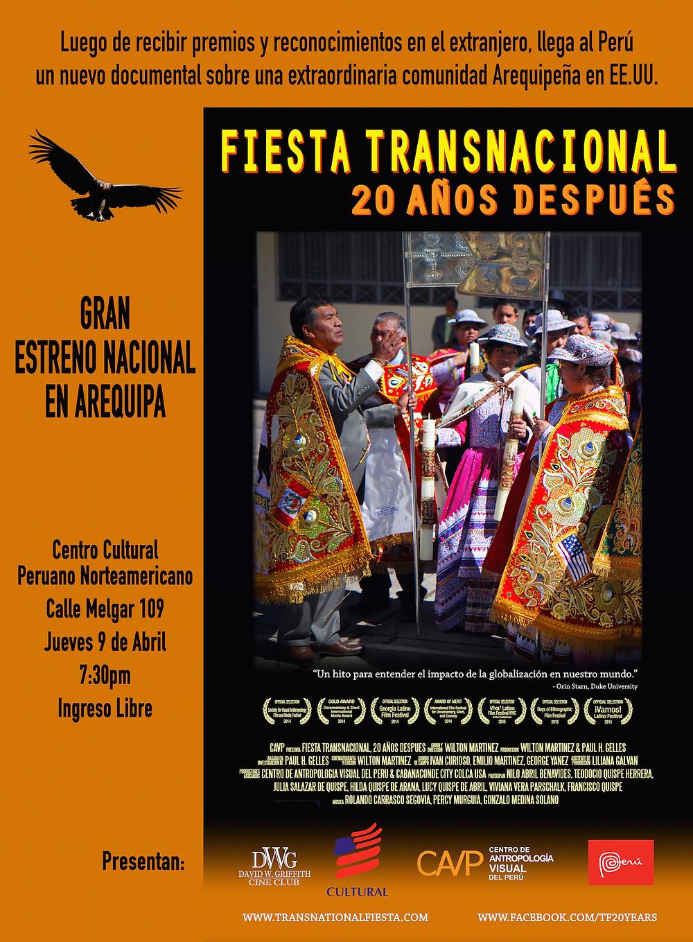 Estreno de Fiesta Transnacional: 20 Años Después en Arequipa