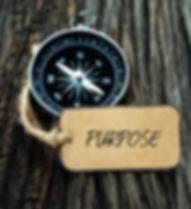 PURPOSE inscription written on paper tag