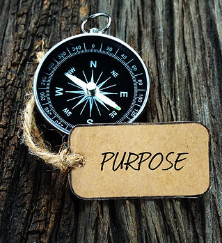 PURPOSE inscription written on paper tag
