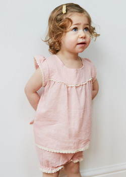Bobble pink top and bloomers