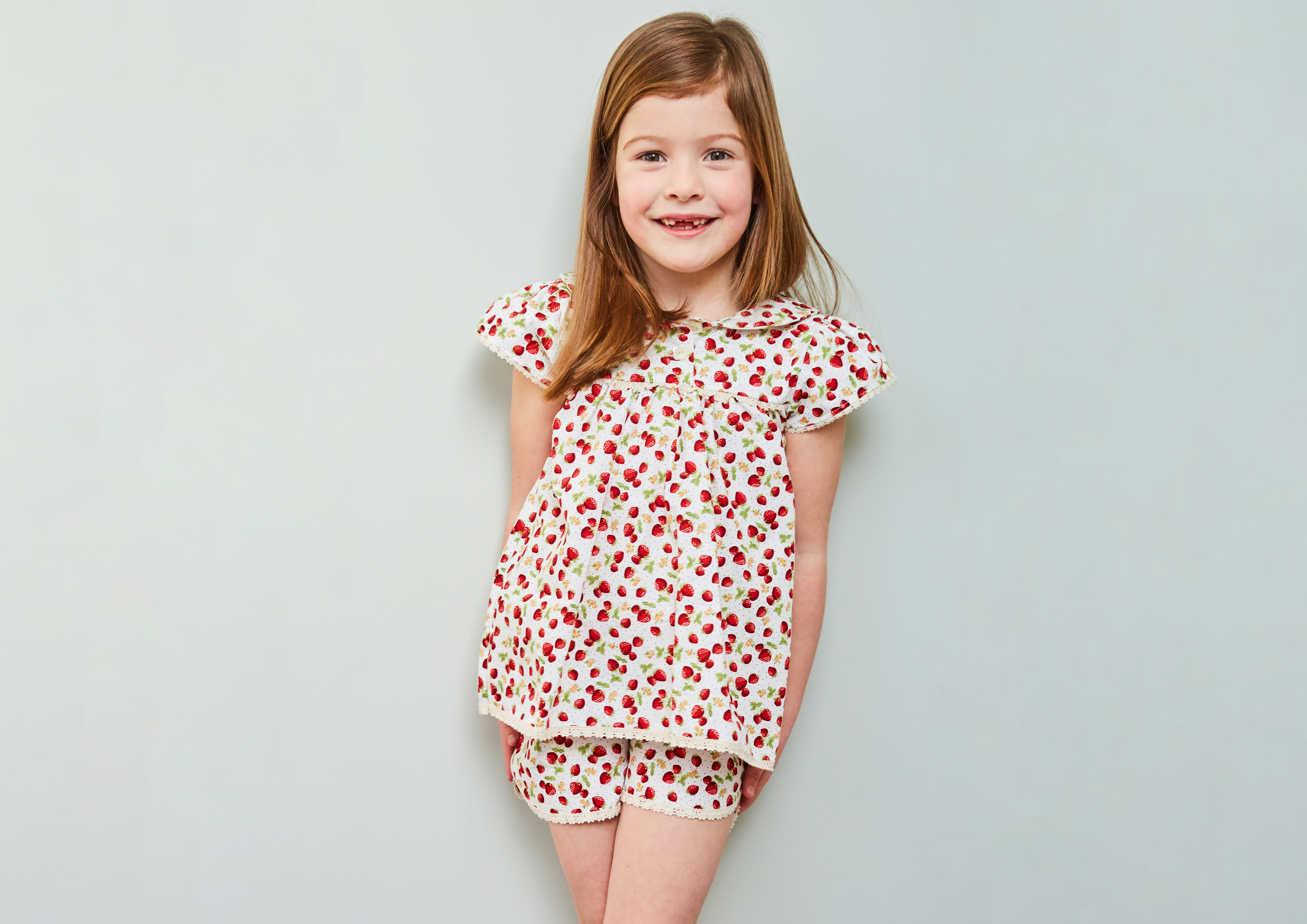 Pretty PJ's in Strawberry print