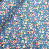 Vintage floral on blue