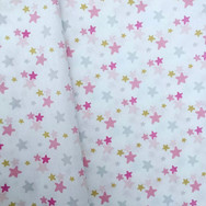 Pink, Grey and Gold Stars