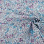 Swiss Dot - Purple & Blue floral