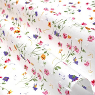 Swiss Dot - Spring floral on cream
