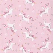 Unicorns on cotton poplin