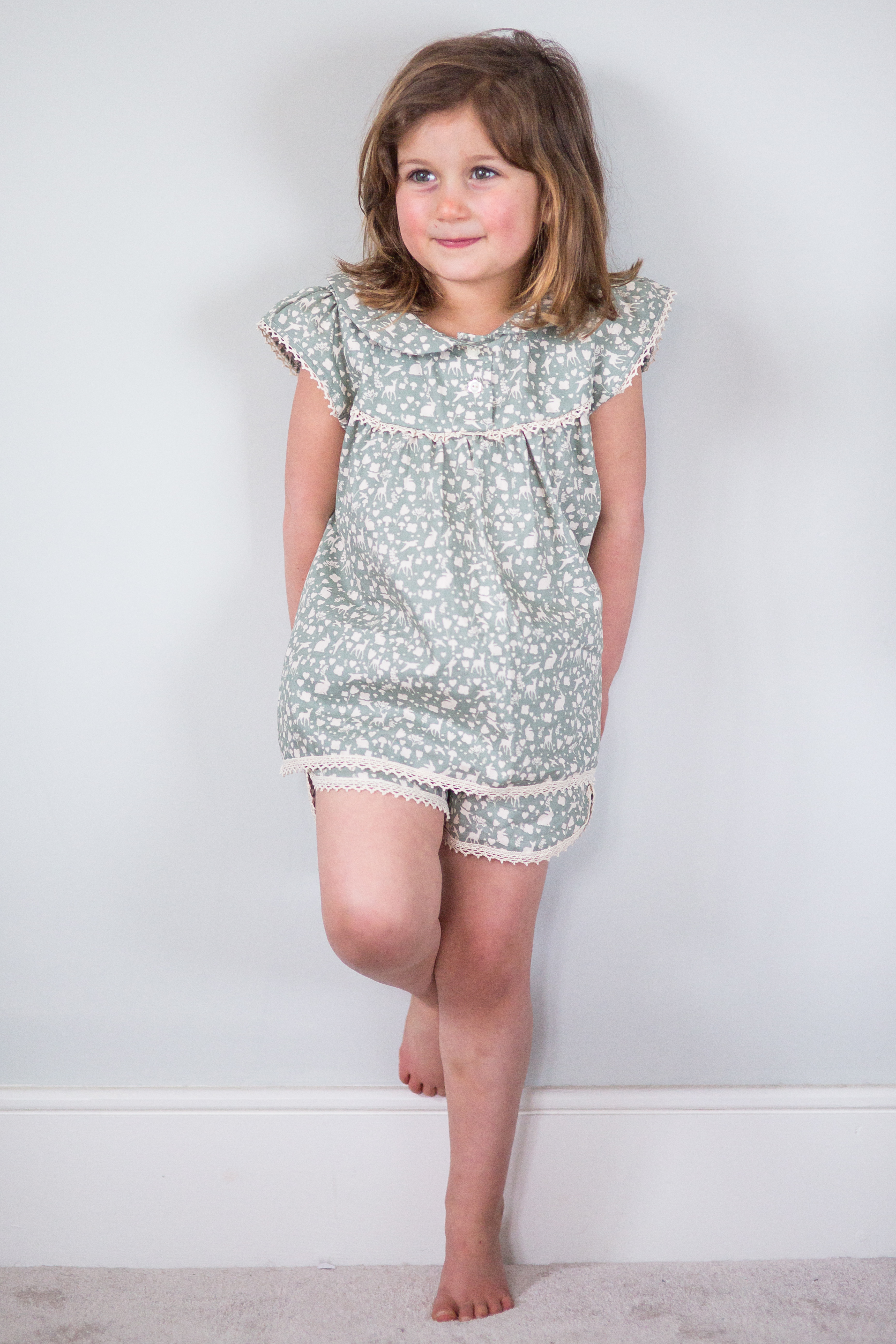 Pretty PJ's in Olive fauna
