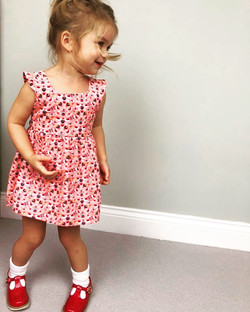 Ruffle V Back Dress