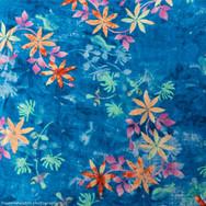 Bali Batik in Blue and Orange