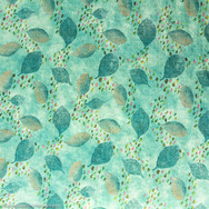 Green Batik cotton/viscose blend