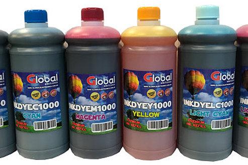 Tinta Premium Universal Black Dye En Botella De 1000 Cm3