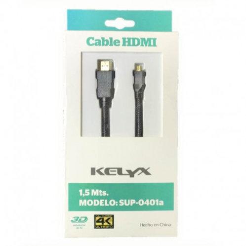 Cable HDMI / Micro HDMI 1.5mts Kelyx