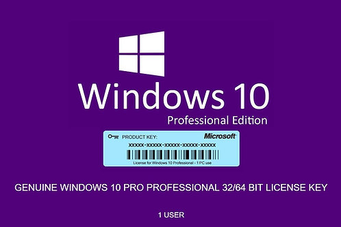 Clave Windows 10 Profesional - Multi-idioma/region - 64bits