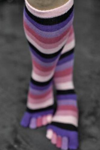Pink Rainbow Toe
