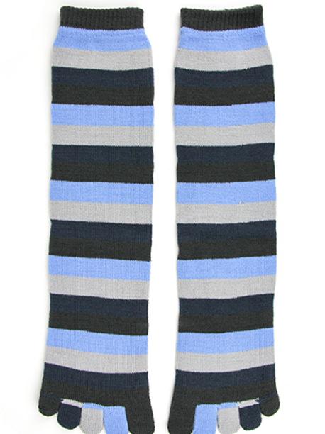 Denim Stripe Toe