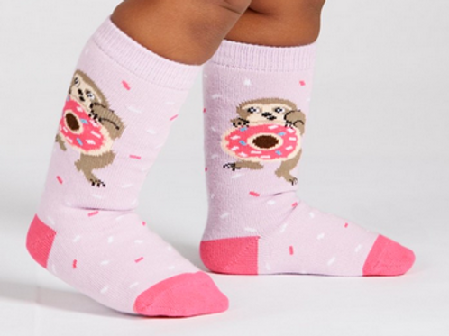 "Toddler knee high ""Snackin Sloth"""