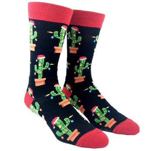 "Mens "" Christmas Cactus"" crew"
