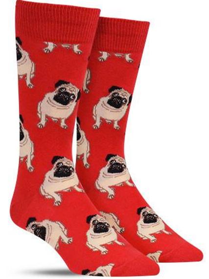 "Mens ""Pugs"" red"