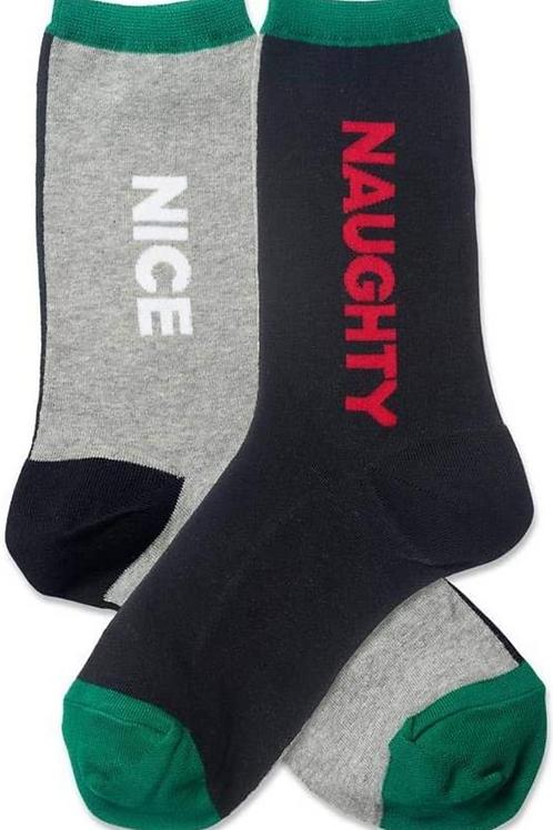 "Mens Crew "" Naughty or Nice"""