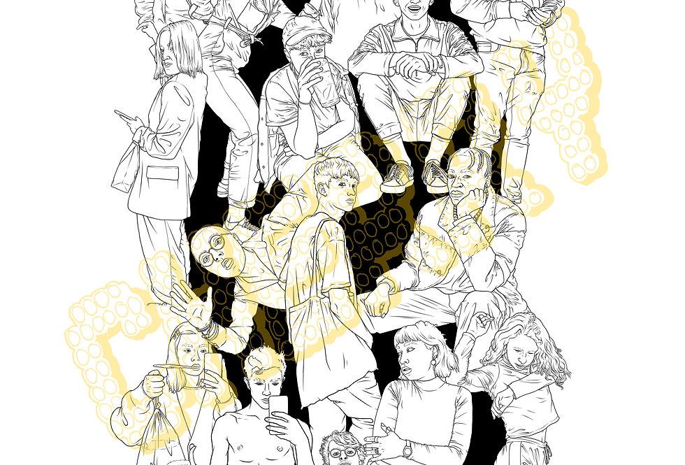 "Asha Wilson - ""People"" Digital Print"