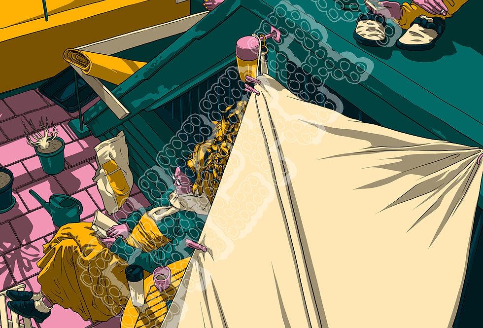 "Asha Wilson - ""Tims Roof"" Digital Print"