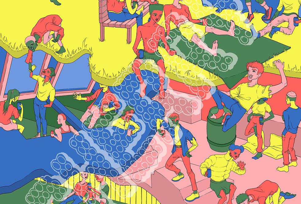 "Asha Wilson - ""Pool"" Digital Print"