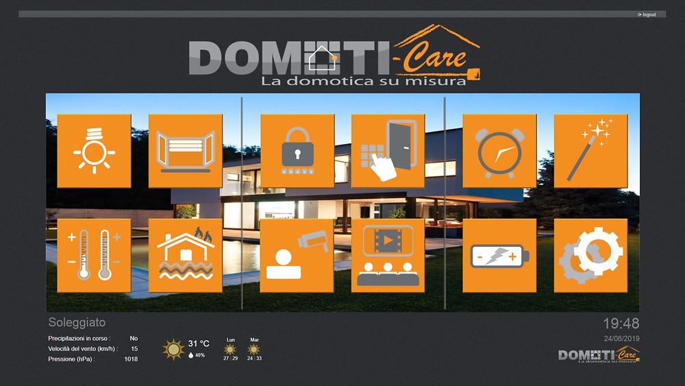 Supervisore domotico Domoti-Care per il controllo della casa domotica konnex knx
