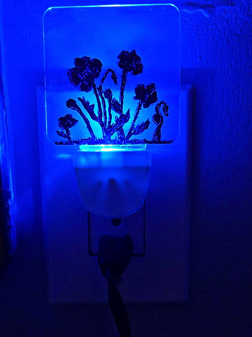 Poppies night light