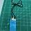 Beach color rectangle pendant.