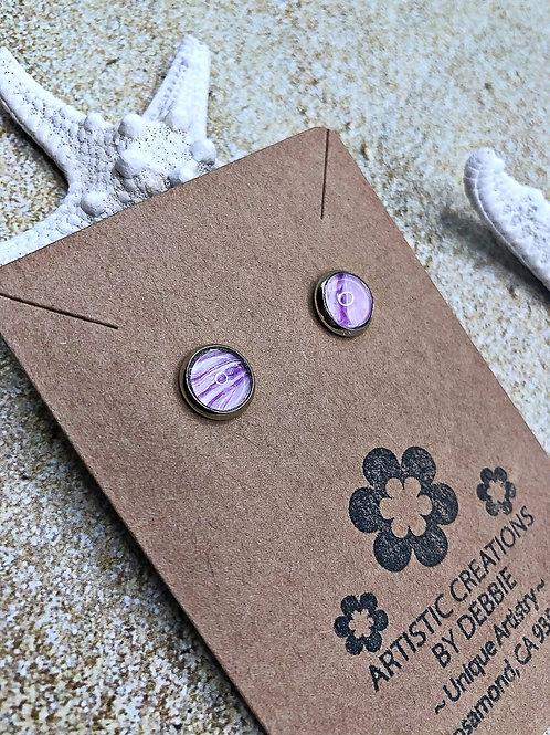 Purple 8mm earrings