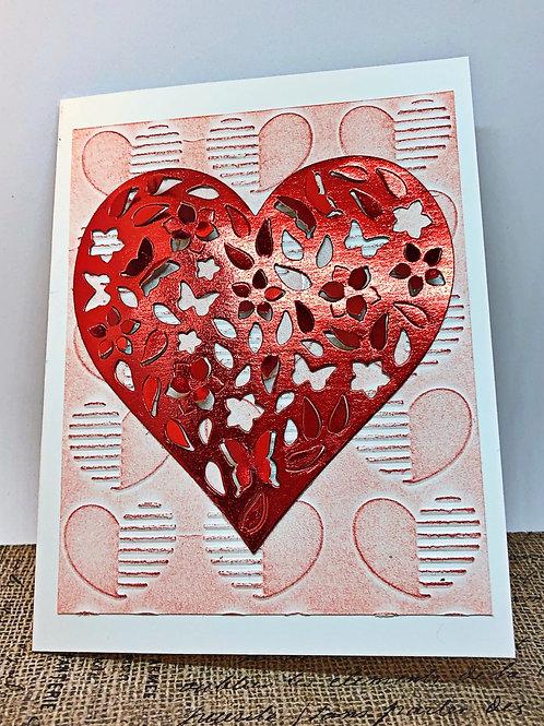 Heart valentine card.