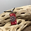 Thumbnail: Red snowflake domino pendant