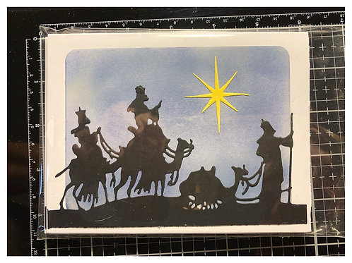 Wisemen Christmas card set