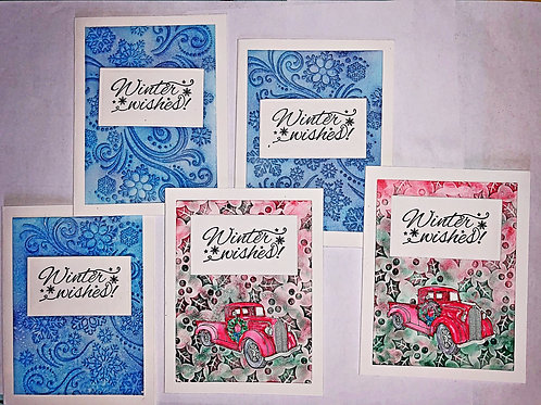 Mixed set of Christmas greeting cards.