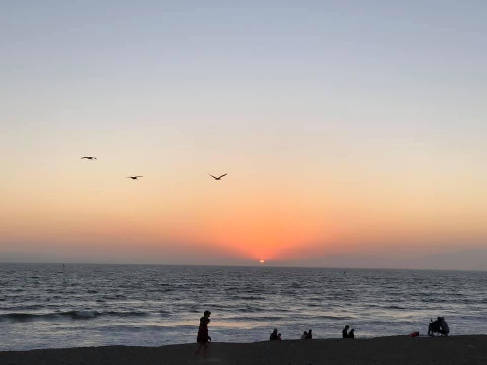 Sunset at ventura beach.