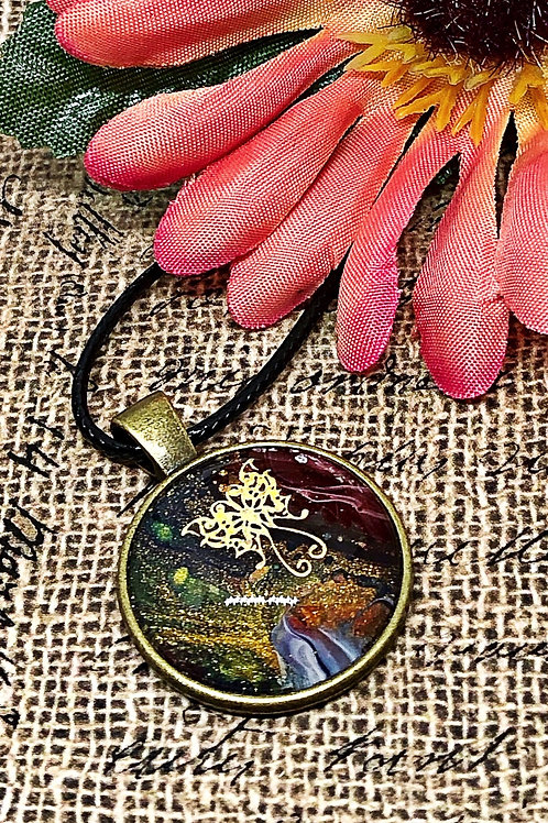 Multi-color butterfly pendant